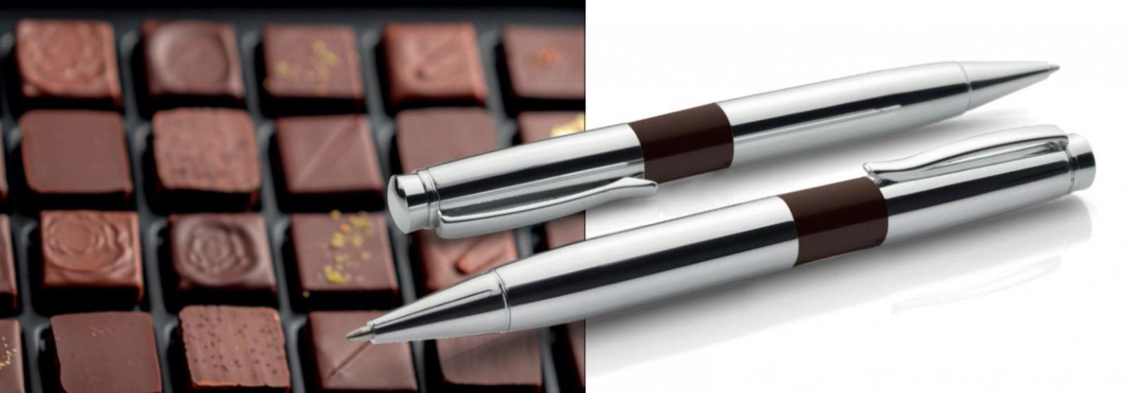Eleganta pildspalva ar šokolādes smaržu