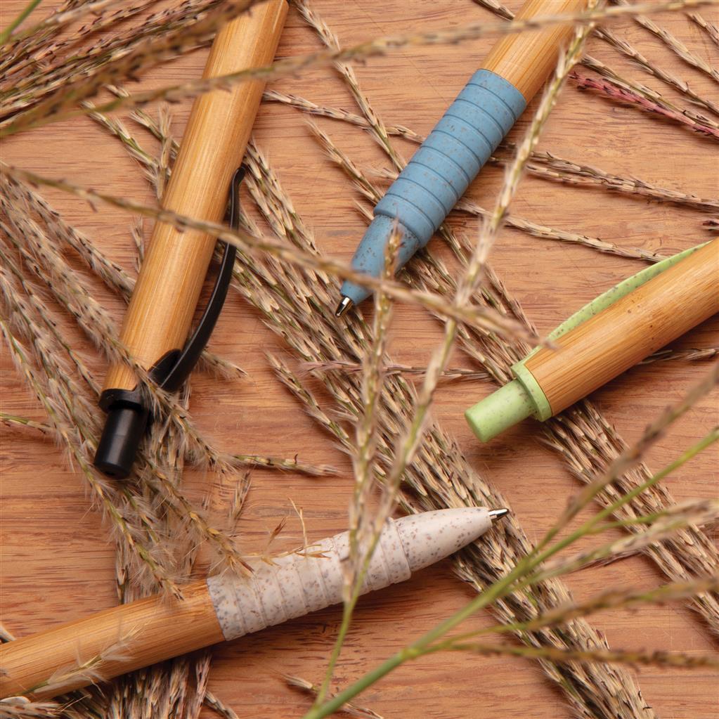 Dažādu dizainu pildspalvas no Eko materiāliem ( Bambuss + salmu šķiedra)