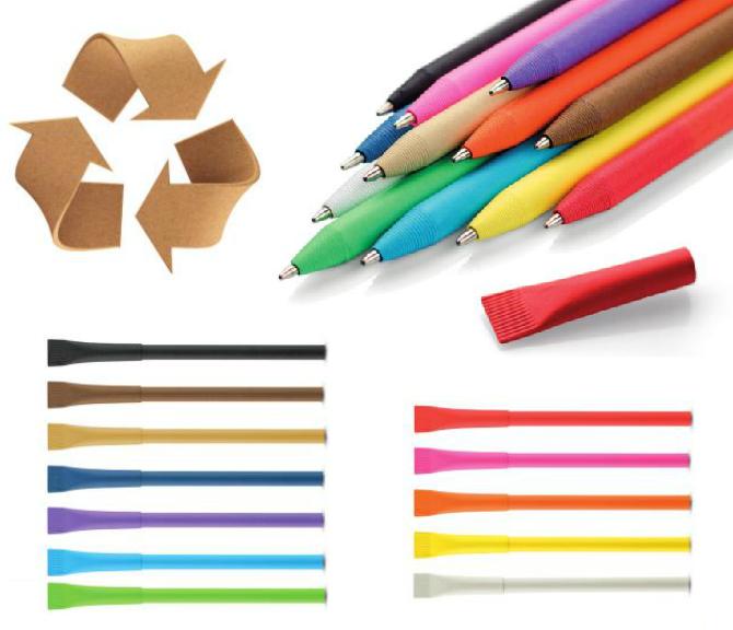 Ekoloģiskas pildspalvas no papīra