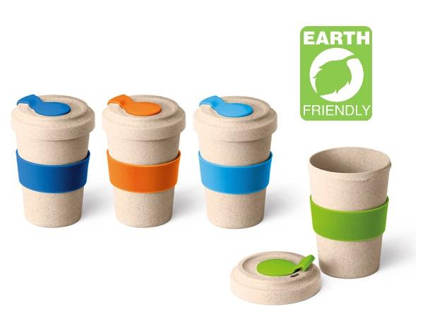 Kafijas krūze no bambusa šķiedras ar Jūsu logo