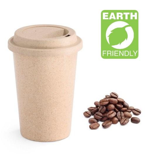 Daudzreiz lietojamā bambusa šķiedru kafijas krūze ar Jūsu logo