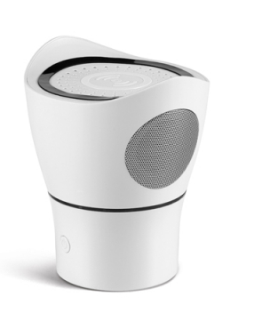 Speaker with microphone and wireless charger — Pārsteigumu
