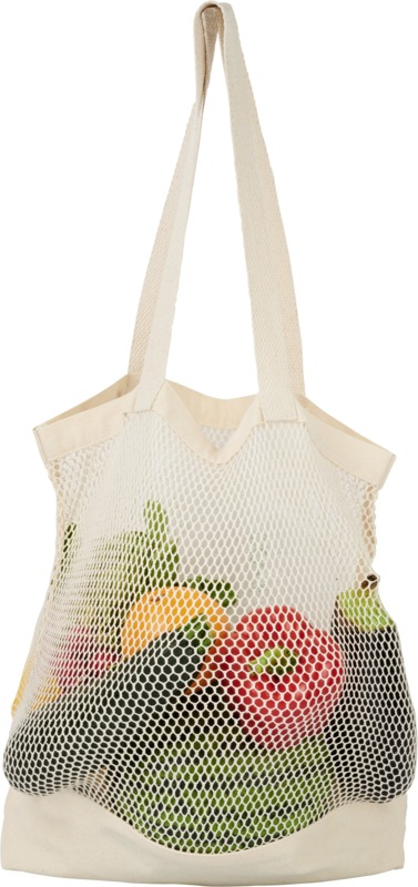 Mesh cotton tote bag-Maine
