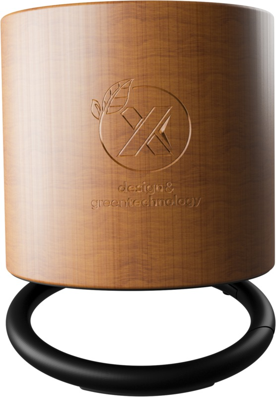 Maple wood Bluetooth speaker with carved logo