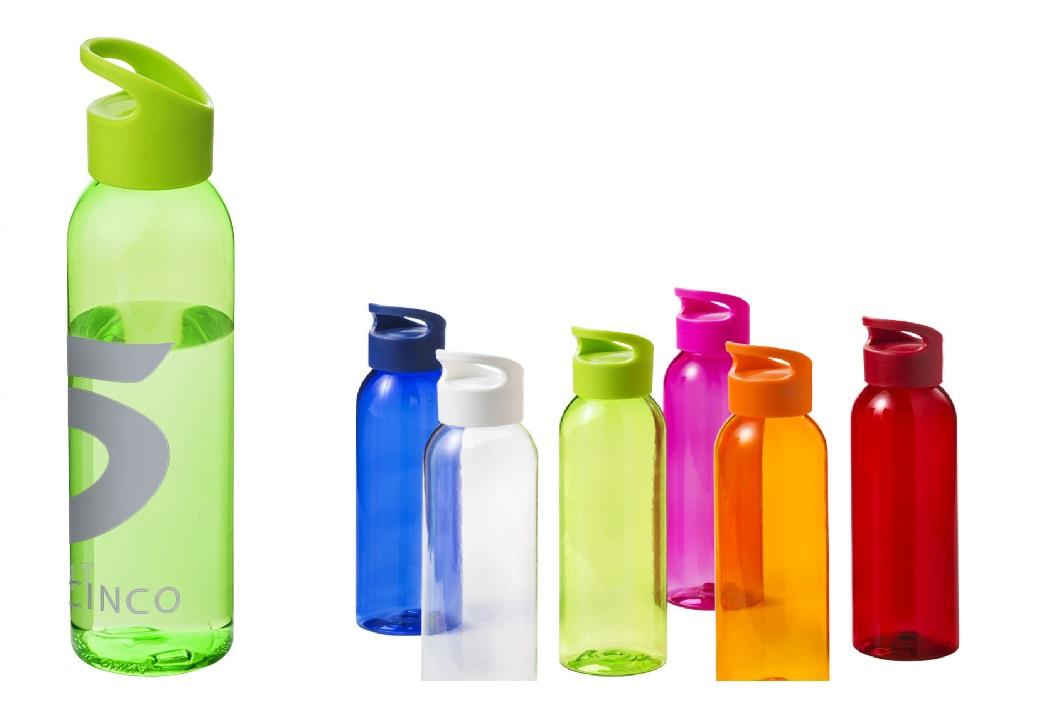 Krāsainas ūdens pudeles