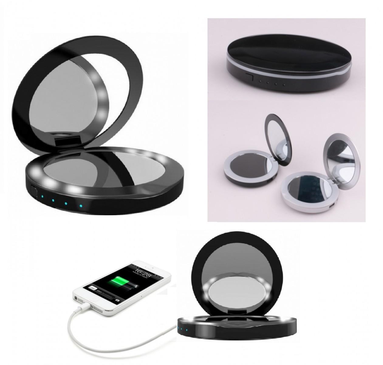 Power Bank - compact mirror