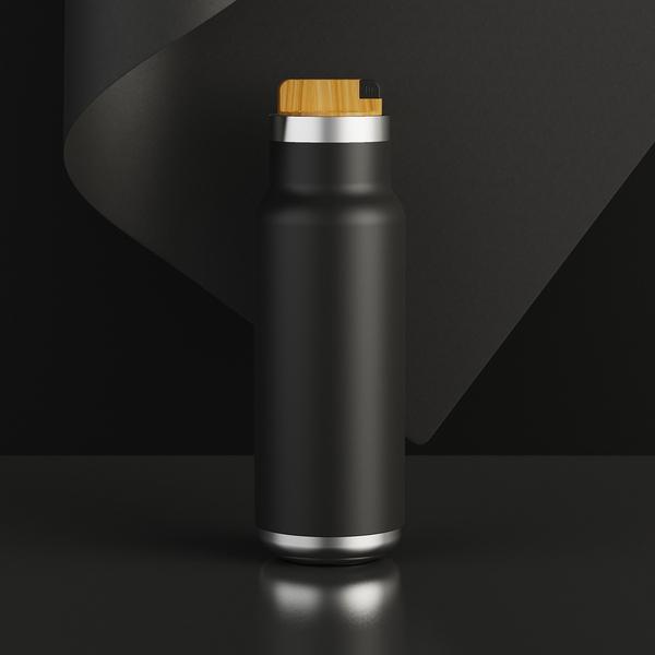 Black vacuum bottle