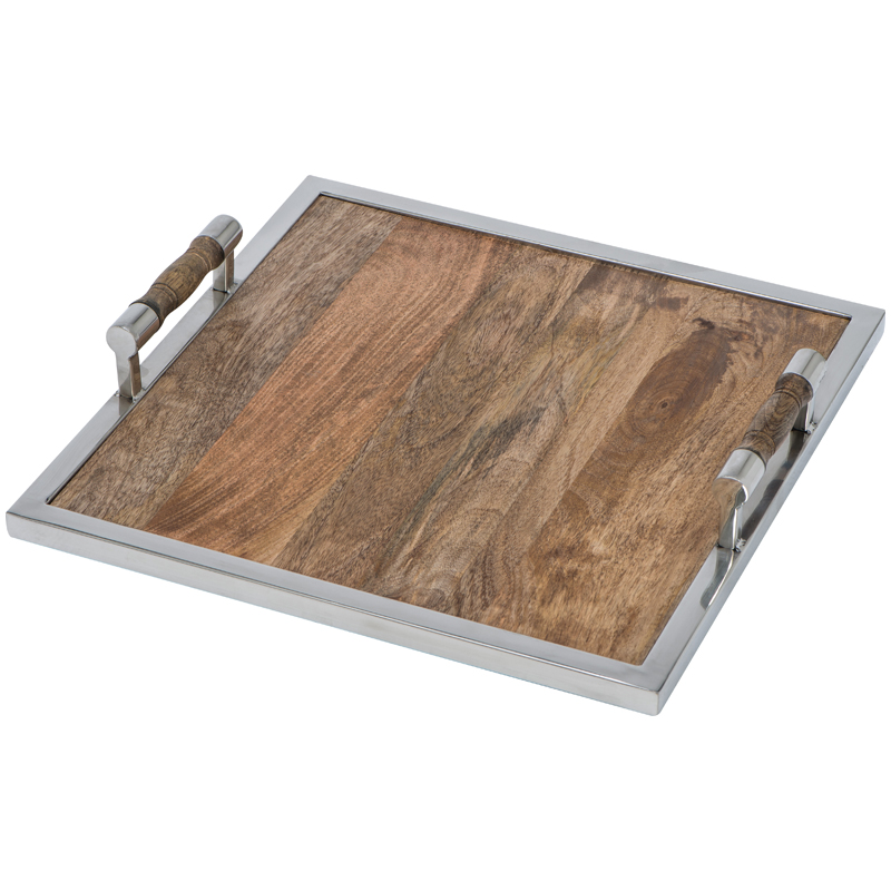 Serving tray made of high quality mango wood