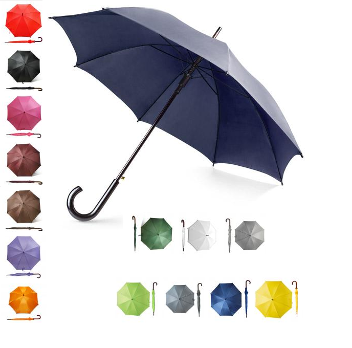 Umbrella in all colors of the rainbow