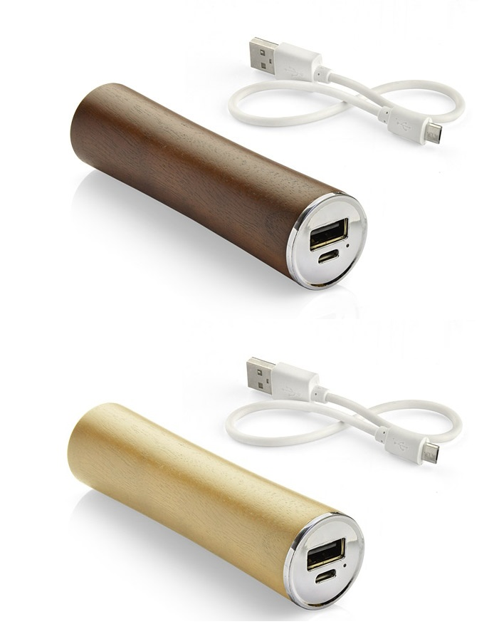 Wooden portable battery