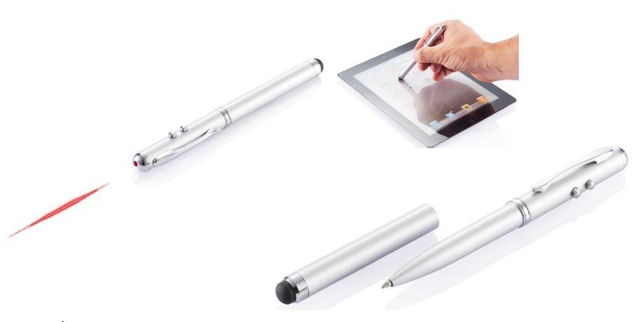 Multifunkcionāla pildspalva-lāzeris prezentācijām, ar uzņēmuma logo