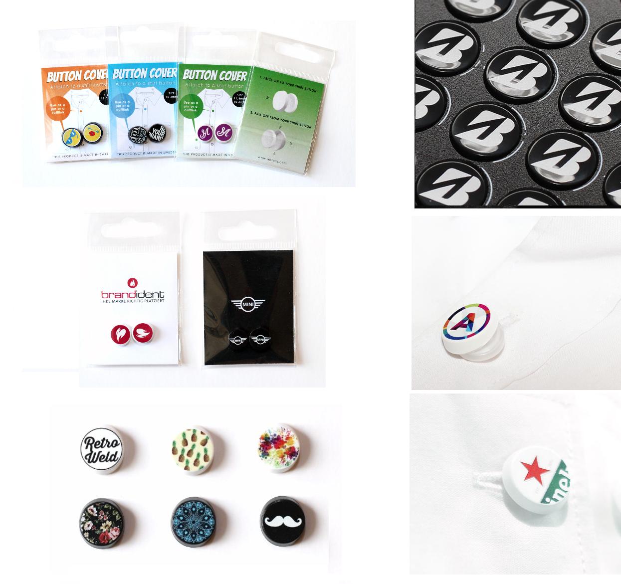 Pogu uzlikas ar Jūsu dizainu un logo
