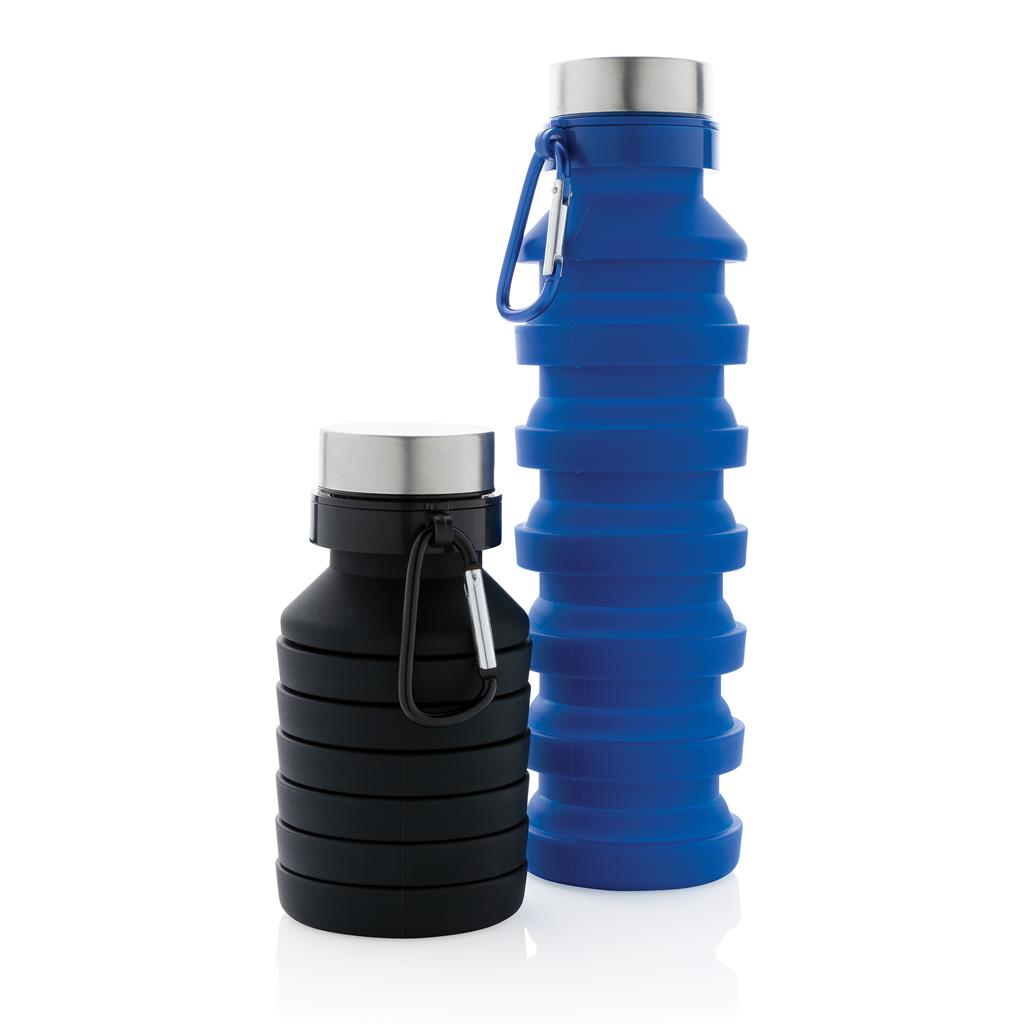 Leakproof collapsible silicone bottle with logo