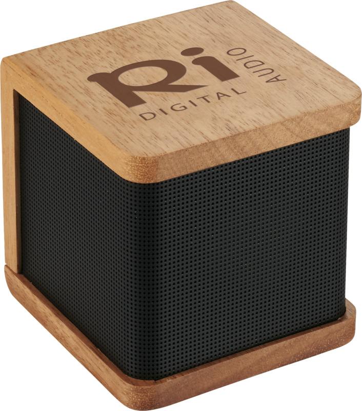 Seneca wooden Bluetooth speaker with logo