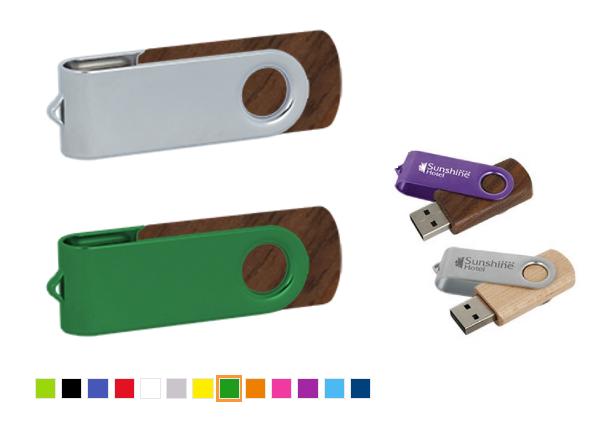Koka un metāla USB zibatmiņa