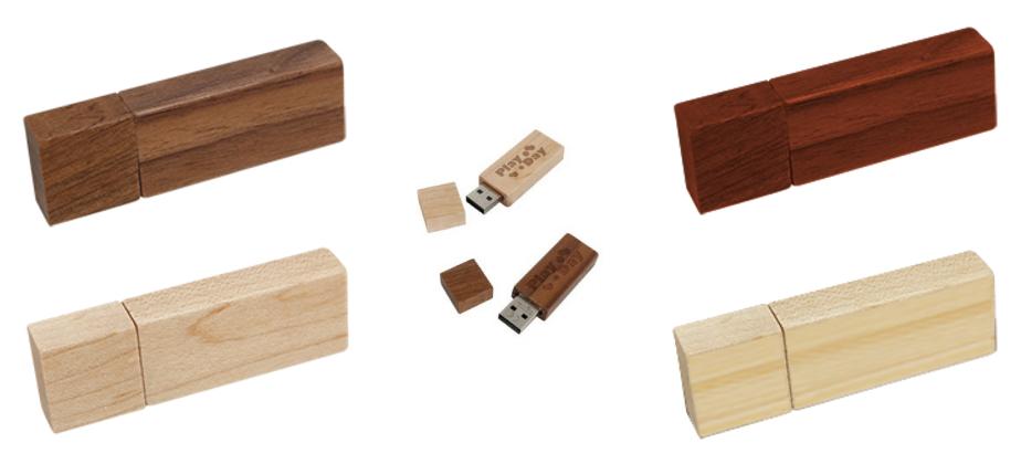 Koka taisnstūra USB