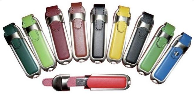 Ādas USB zibatmiņa