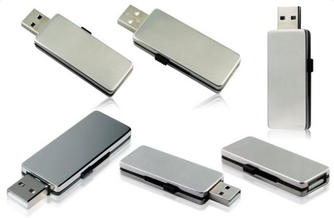 Sliding Metal USB Flash