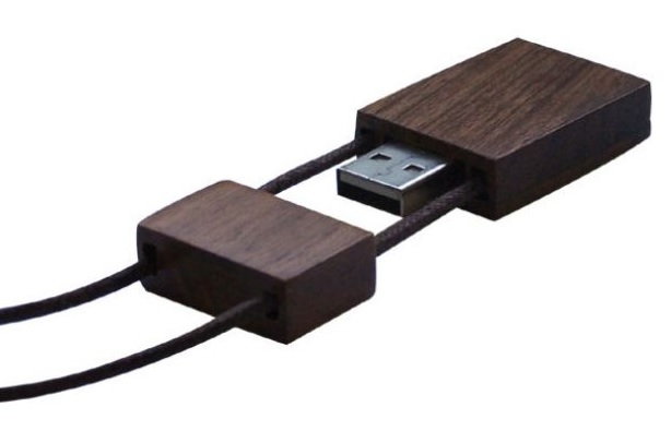 Wood USB Flash With Twines