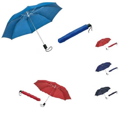 Folded, manual umbrella