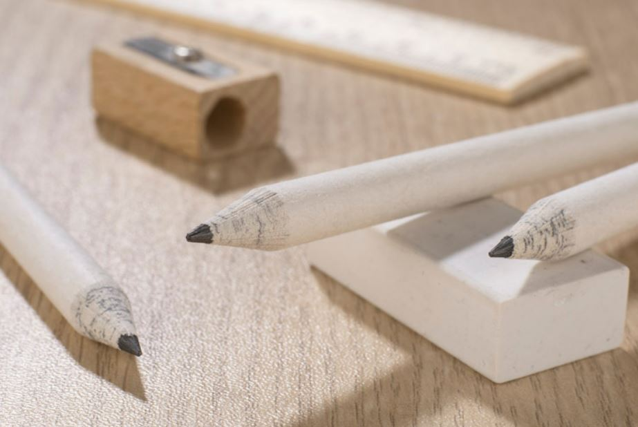 Paper pencil with logo