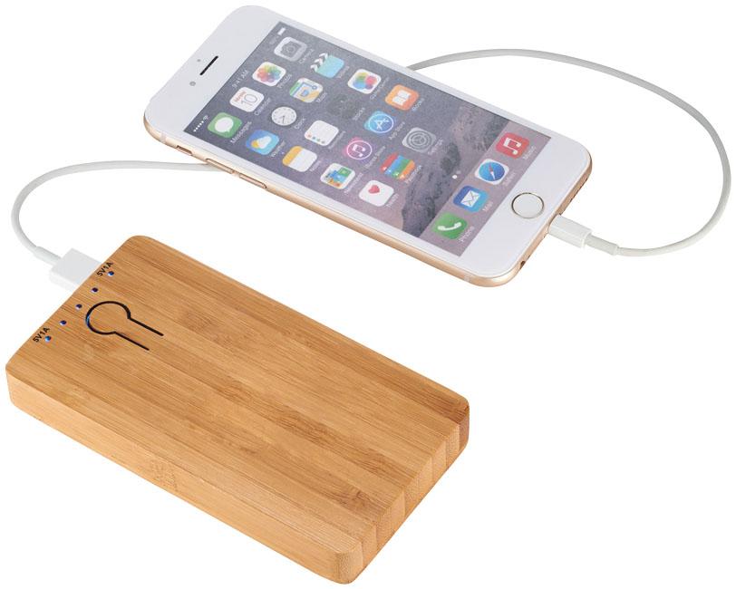Bambusa portatīvā baterija