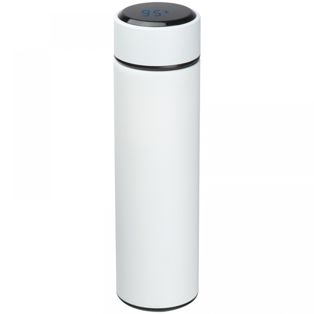 Vacuum flask with thermometer